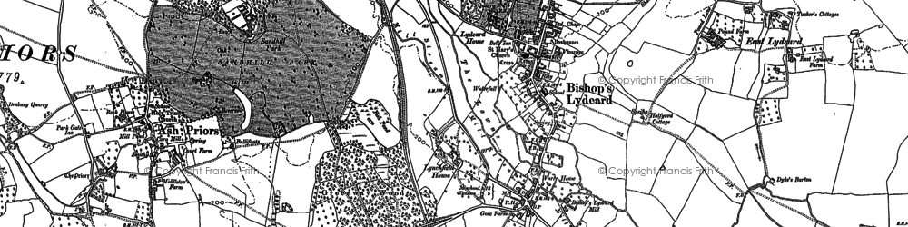 Old map of Bishops Lydeard in 1887