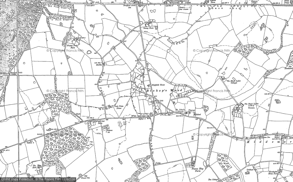 Old Map of Historic Map covering Tong Rough in 1896