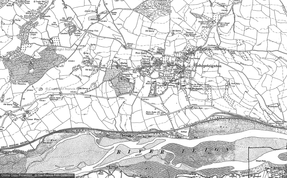 Old Map of Historic Map covering Ash Hill in 1904