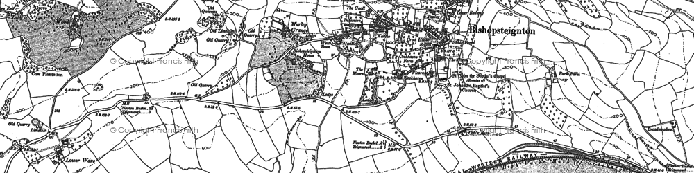 Old map of Ash Hill in 1904