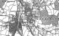 Old Map of Bishopstoke, 1895
