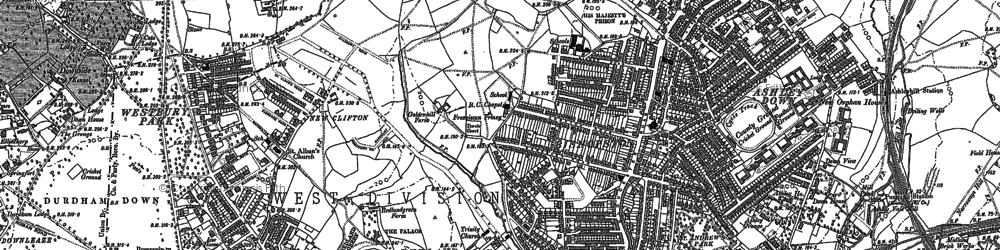 Old map of Bishopston in 1896