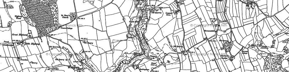 Old map of Bishopston in 1913