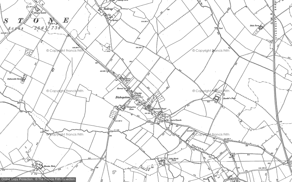 Old Map of Bishopstone, 1897 - 1898 in 1897