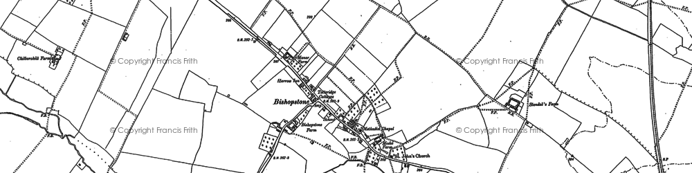 Old map of Bishopstone in 1897