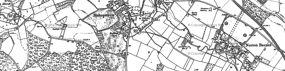 Old map of Bishopstrow in 1899