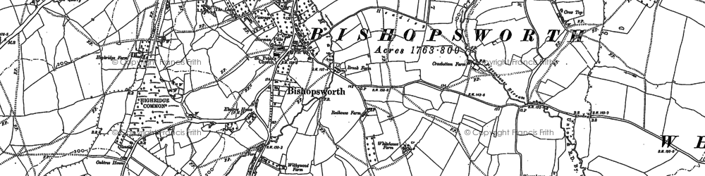Old map of Withywood in 1902