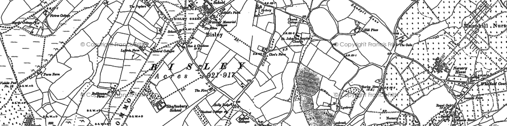 Old map of Bisley in 1895