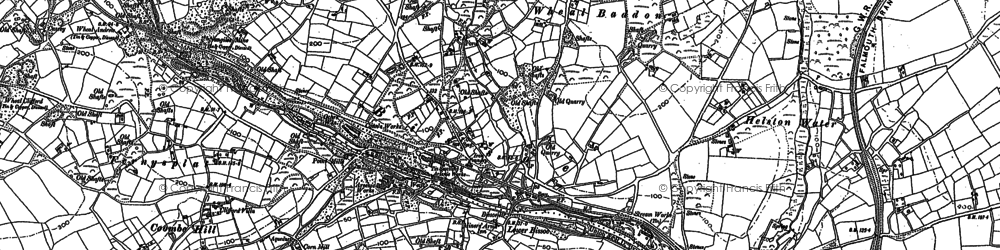 Old map of Bissoe in 1879
