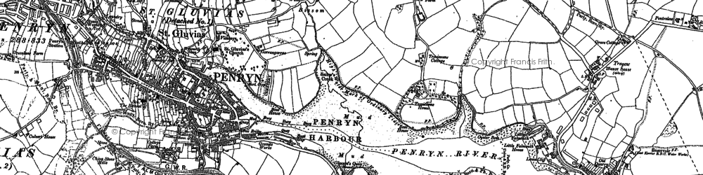 Old map of Bissom in 1906