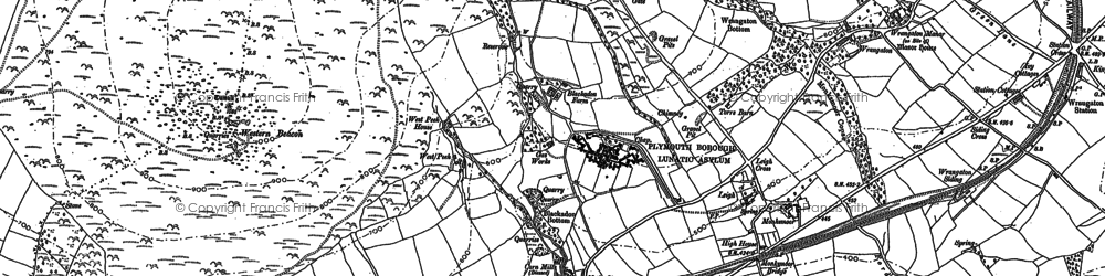 Old map of Western Beacon in 1886