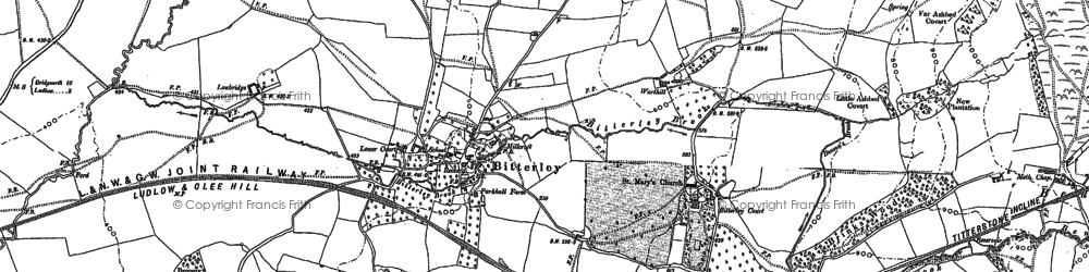 Old map of Asbatch in 1879