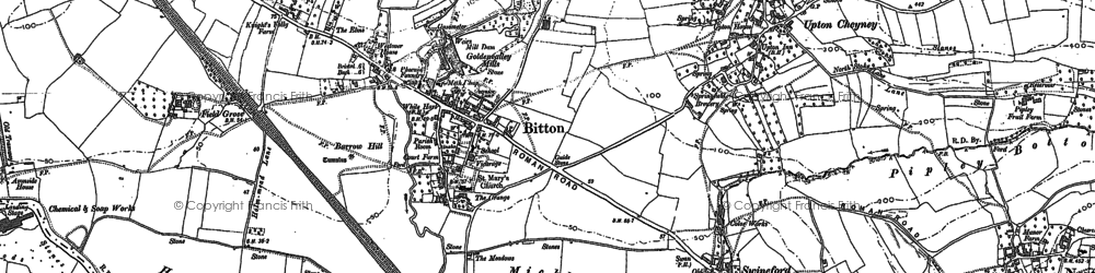 Old map of Bitton in 1901