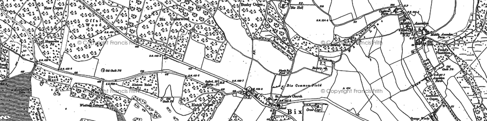 Old map of Westleaze Cottages in 1897