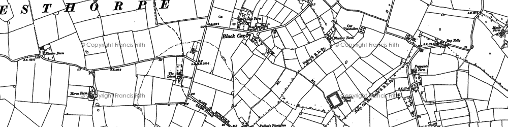 Old map of Black Carr in 1882