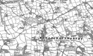 Old Map of Black Dog, 1887