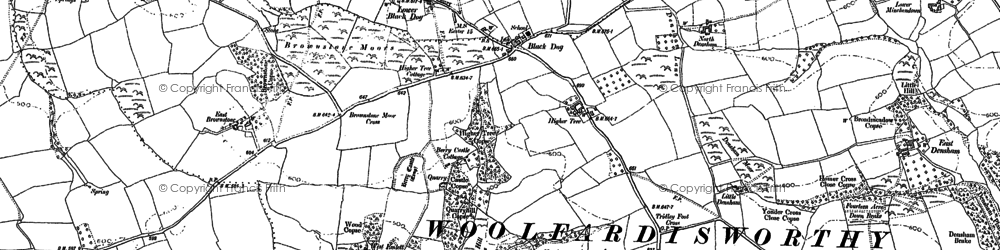 Old map of Wonham in 1887