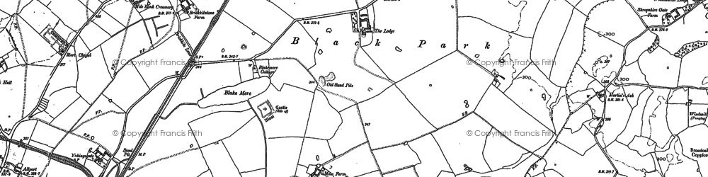 Old map of Yockings Gate in 1879