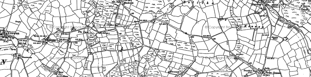 Old map of Bolitho in 1877