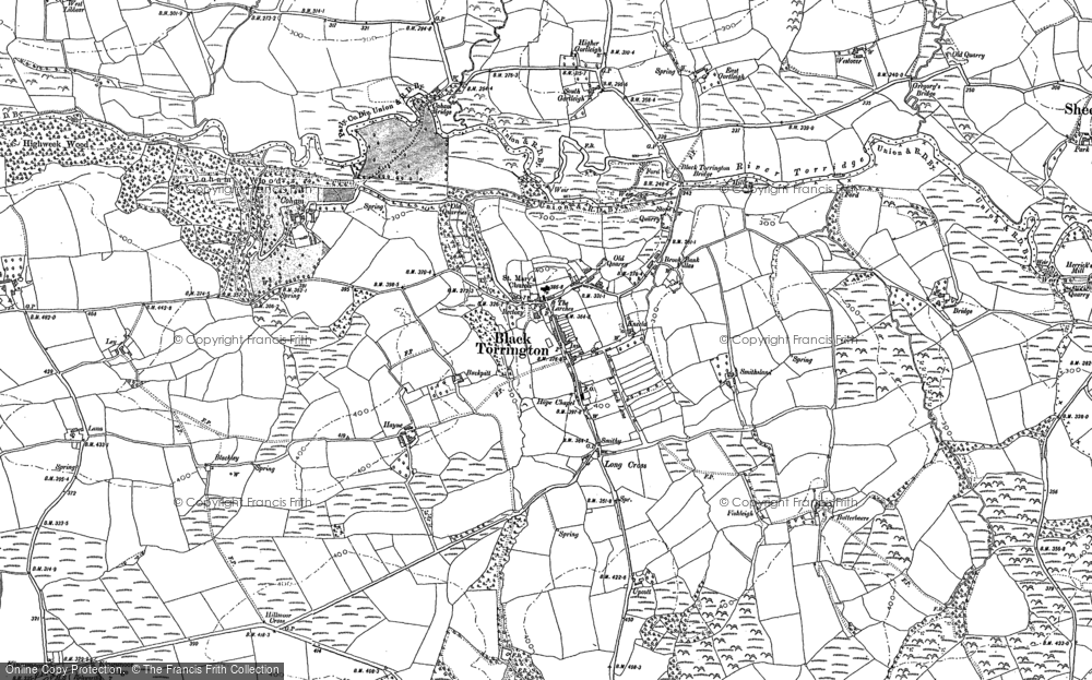 Old Map of Historic Map covering Backway in 1884