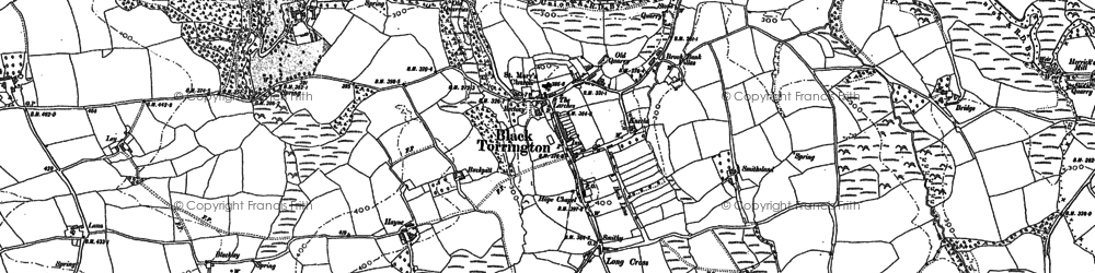 Old map of Backway in 1884