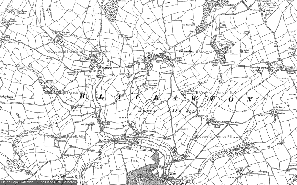 Old Map of Historic Map covering Woodford in 1886