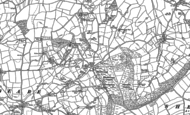 Old Map of Blackborough, 1887