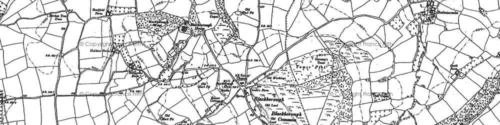 Old map of Leigh Court in 1887