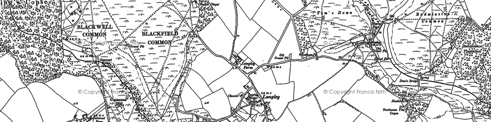 Old map of Badminston Common in 1895