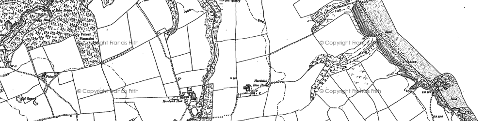 Old map of Blackhall Colliery in 1896
