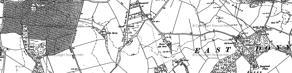 Old map of Blackheath in 1895