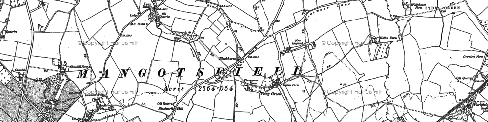Old map of Blackhorse in 1881