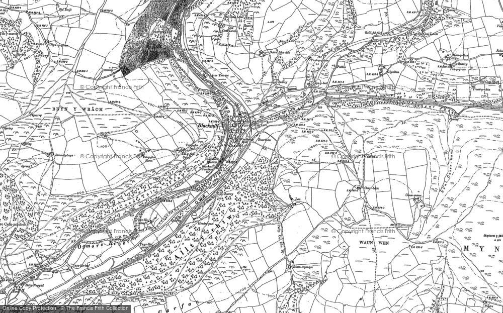 Old Map of Blackmill, 1897 in 1897