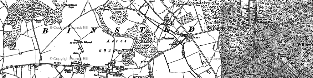 Old map of Wheatley in 1909