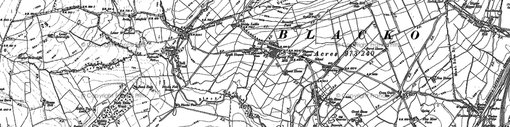 Old map of Blacko in 1910