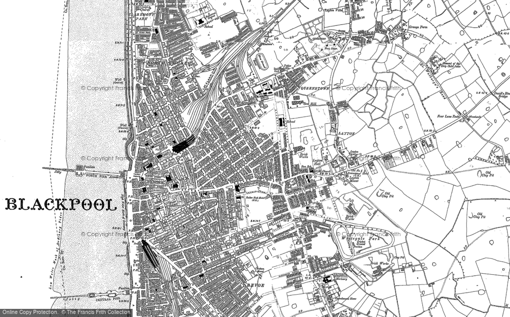 Old Maps Of Blackpool Francis Frith - Blackpool map