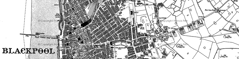 Old map of Blackpool in 1891
