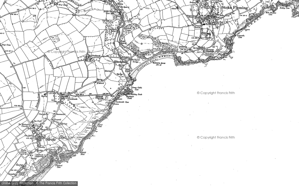 Old Map of Historic Map covering Asherne in 1904
