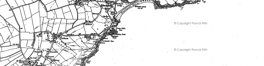 Old map of Asherne in 1904