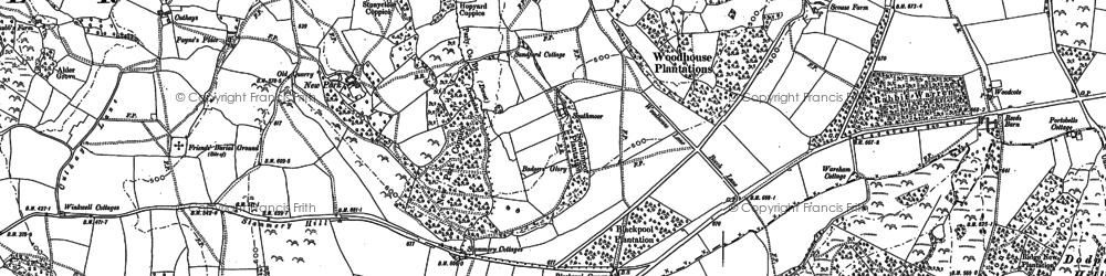 Old map of Wyld Warren in 1903