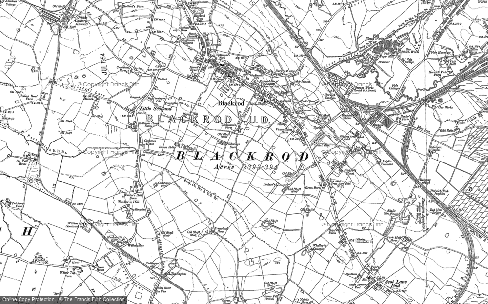 Map of Blackrod, 1892