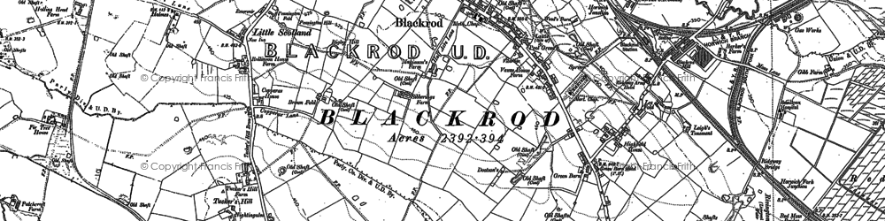 Old map of Blackrod in 1892