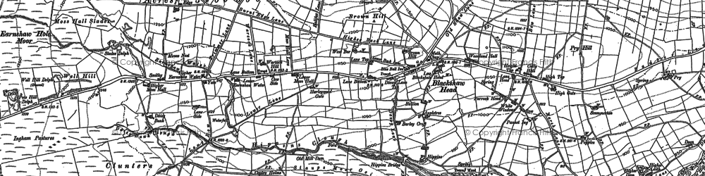 Old map of Four Gates End in 1905