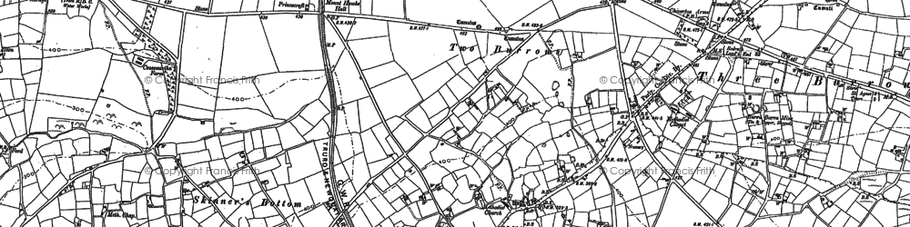 Old map of Blackwater in 1879