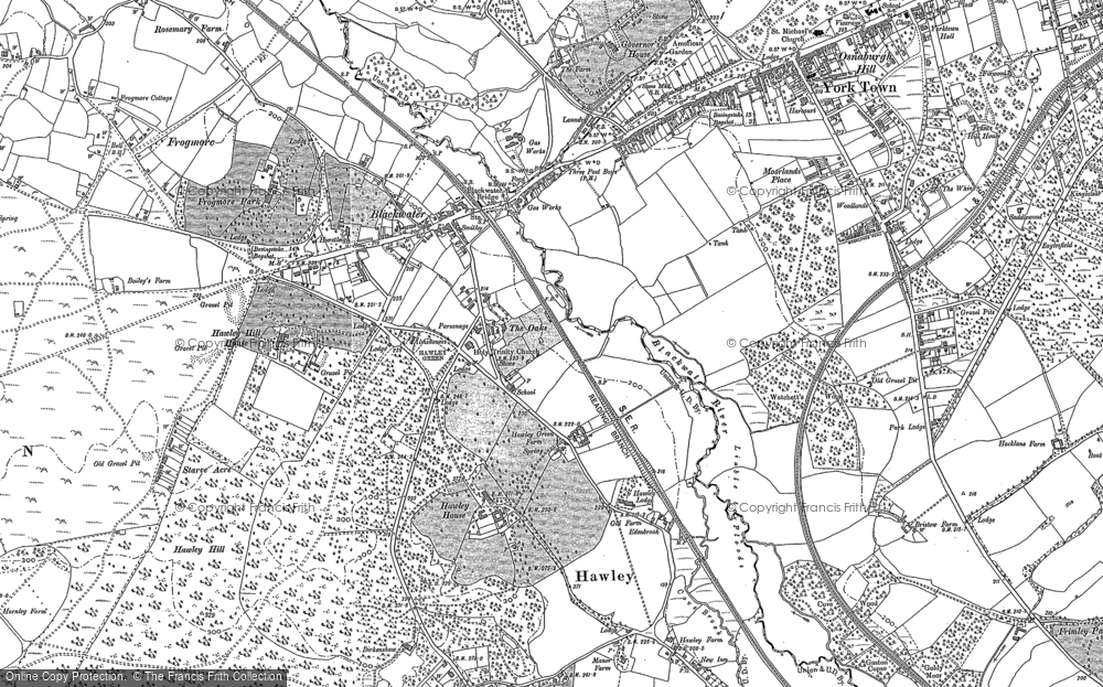 Map of Blackwater, 1909