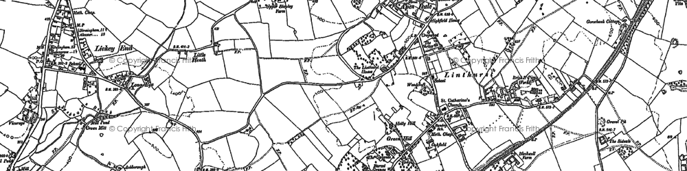 Old map of Linthurst in 1883
