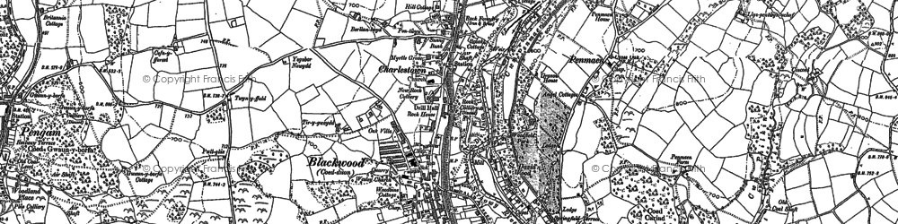 Old map of Blackwood in 1899