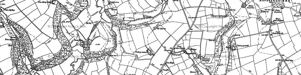 Old map of Alltyresgob in 1887