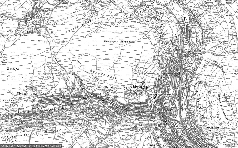 Old Map of Blaen Clydach, 1898 in 1898