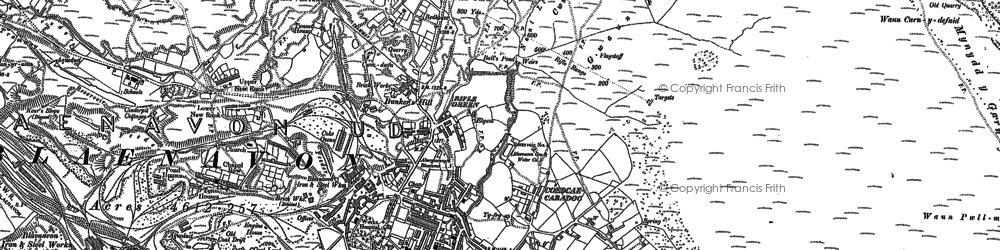 Old map of Blaenavon in 1899